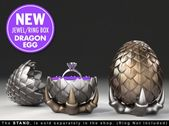 "Dragon Egg Game of Thrones ""style"" Ring Box – proposal ring box, engagement ring box, ring case, wedding, marriage, matrimony, geeky, geek"
