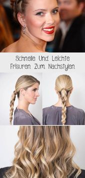 Quick and easy hairstyles to style