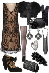 Gorgeous The Great Gatsby inspired outfit – #20s #Gatsby #gorgeous #Great #Inspi…