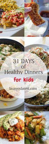 Holen Sie sich 31 Rezepte für gesunde Abendessen, die Ihre Kinder lieben werden! Super schmackhaft, sei …   – Snacks for kids