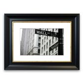 East Urban Home Framed Wall Street and Broadway Photo Print | Wayfair.de