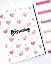 Sweet February BuJo Cover