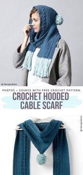 Stylish Hooded Scarves Free Crochet Patterns