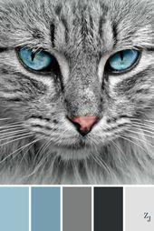 Farbkombination zum Häkeln Kühle farben | Grau Eisblau Blau Schwarz