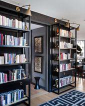 Moderne Hausbibliothek Ideen für Bücherwürmer und Schmetterlinge