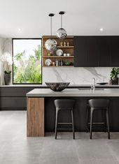 Kitchen // The Signature by Metricon Riviera, exhibited in Sorrento, QLD. – #exhibited #Kitchen #Metricon #modernkitchens #QLD #Riviera #Signatur …