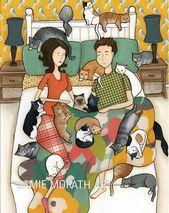 Cat Nap, ein Mann mit einer verrückten Katzendame, die mit vielen Katzen, Kätzchen, …