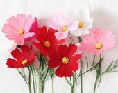 Set of 3 Open Paper Peonies- Paper Flowers- Paper Anniversary- 1st Anniversary- Paper Flower- Paper Decoration- Crepe Paper Flowers – Basteln: Blumen