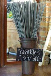Wedding Sparkler Buckets