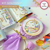 Kit de golosinas para imprimir de unicornio   – Fiesta Unicornio