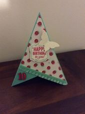 Teepee Card Christmas Cards Handmade Cards Handmade Card Patterns