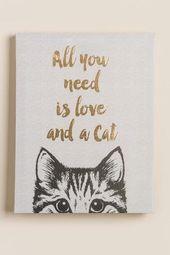 Alles was Sie brauchen ist Liebe und eine Katze Le…