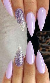 40 Acrylnagel Designs der glamourösen Damen der Sommersaison #Nägel #Nägel …   – Nail Desings