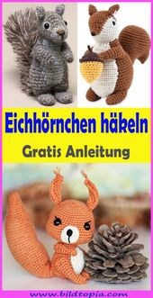 Crochet Amigurumi Squirrel – Free & Easy Instructions
