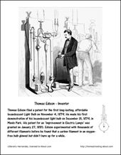Free Printables Featuring Famous Firsts In October Thomas Edison October Printables Coloring Pages