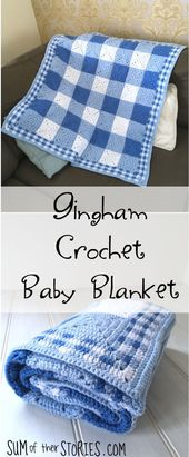Baby Blanket Gingham Crochet Baby Blanket Tutorial — Sum of their Stories