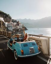 "Doyoutravel Presets on Instagram: ""Cruising along the Amalfi coast in this vintage car has been one of the highlights of our Europe trip! Edited using our Summer Presets -…"""