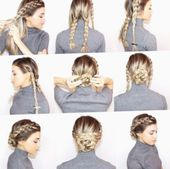 ✔ Hairstyles For School Lazy Messy Buns #livedinhair #salonrepublic #beachwavehair