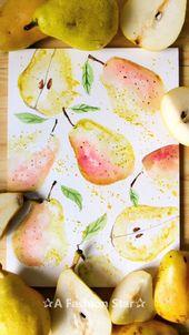 10 Aquarell Obst Malideen – Kunst – Zeichnen