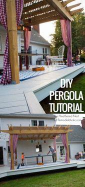 DIY Pergola Tutorial: So bauen Sie Ihren eigenen Backyard Shade,  #Backyard #bauen #DIY #eige…