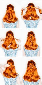 Flower weave as a popular weaving trend: How to braid a flower braid – New hair hairstyles ideas 2019 – # as #beliebter #Flower braid #i …