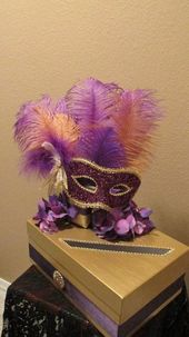 Masquerade Themed Wedding Anniversary Birthday Party Card Money Box