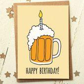 Freund Geburtstagskarte – lustige Geburtstagskarte – Karte für Freund – Geburtstagskarte Papa – Freund Geburtstagskarte – Bier Geburtstagskarte