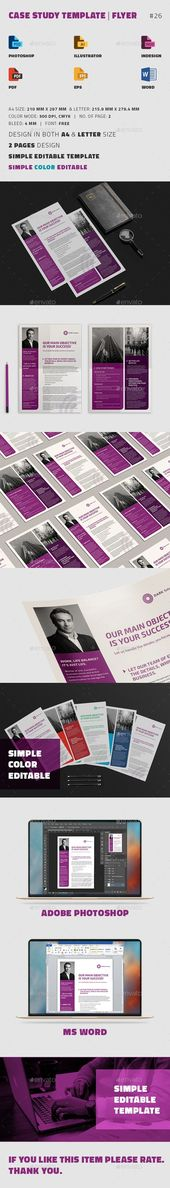 Case Study Template  Flyer