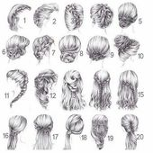 Drawing hairstyles – hairstyles 2018