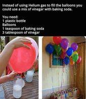 Verwenden Sie Essig und Backpulver, um schwimmende Luftballons Luftballons diy diy Ideen par …