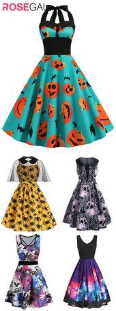 Rosegal plus size Halloween costume dress vintage Halloween dresses ideas