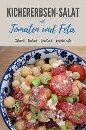 Kichererbsensalat mit Tomaten und Feta