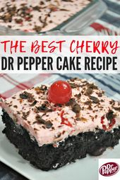 Das beste Rezept für Cherry Dr Pepper Cake! Dieser Dr. Pepper Cake ist einfach zu …