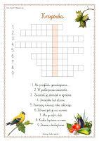 Blog Edukacyjny Dla Dzieci Krzyzowka Ortograficzna Education Crossword Puzzle Puzzle