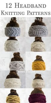 The 12 Days of Thankfulness Headband Knitting Patterns {Plus 2 exclusive headban…
