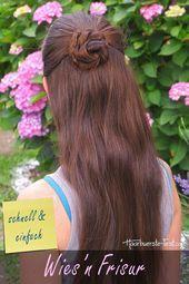 Oktoberfest hairstyle half-open – Oktoberfest hairstyle, Oktoberfest hairstyle – #Hairstyle # half #of … – Oktoberfest – #Hairstyle # half