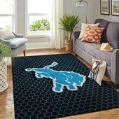Detroit Lions Nfl Room Carpet Sport Custom Area Rug  – Detroit lions football