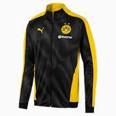 BVB Men's League Stadium Jacket | Cyber Yellow-Puma Black | PUMA BVB | PUMA United Kingdom