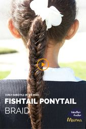 Curly hairstyle of the week: Fishtail Ponytail Braid | Anchor Mama Weather