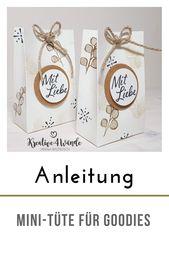 Photo of Mini-Tüte /Goodie´s für Gäste Mini-Bag for Goodies mit Stampin`Up! Papiersch…