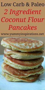 2 Ingredient Gluten Free Coconut Flour Pancakes Recipe