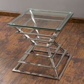 Christopher Knight Home Pagoda Stainless Steel End Table   Overstock.com Shopping – The Best Deals on Coffee, Sofa & End Tables