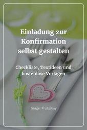 Machen Sie selbst eine Einladung zur Bestätigung: Checkliste & Textideen   – Einladungeb
