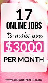 Auf der Suche nach Online-Jobs, mit denen Sie von zu Hause aus arbeiten können …