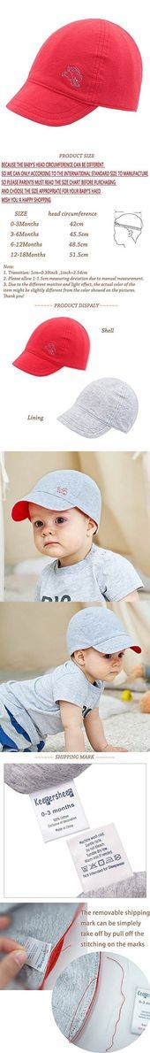 Keepersheep Baby Reversible Baseball Cap Infant Sun Hat, Shell Embroidery Cotton – children styles