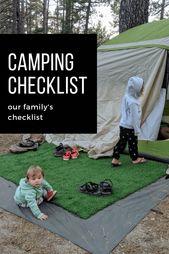 FAMILY CAMPING CHECKLIST. Vår familjs checklista med två små. Var helt …