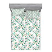 East Urban Home Cherry Blossoms with Bumble Bees Japanese Spring Sheet Set – Products