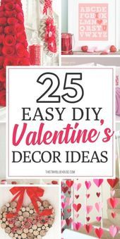 Looking for easy DIY Valentine's Day Decor ideas? Here are 20  of the best DIY V… –  #Day #…