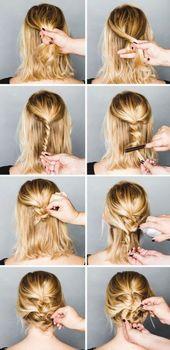 Beste Hochzeit Frisuren DIY Hochsteckfrisur kurze Haare 65 Ideen