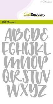 DIY Cuadernos CraftEmotions – Alphabet Handlettering Großbuchstaben 2